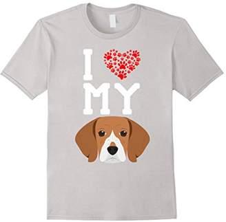 I Love My Dog - Beagle Animal Lover Best Friend T-Shirt