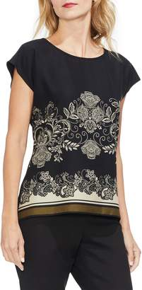 Vince Camuto Ornate Paisley Detail Blouse
