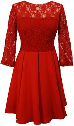 Helena Lauren Lynn London - The Mini Dress Lace 3/4 Sleeve Short Dres2