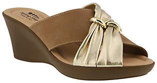 Spring Step Leather Slide Sandals - Felim
