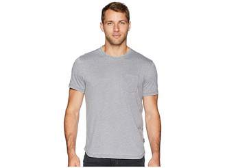 John Varvatos Short Sleeve Burnout Crew with Raw Edge and Pocket K3767U2B