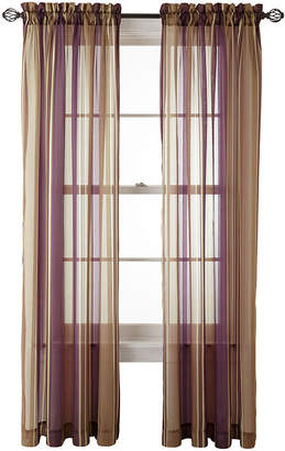 Royal Velvet Kingston Stripe Rod-Pocket Sheer Panel