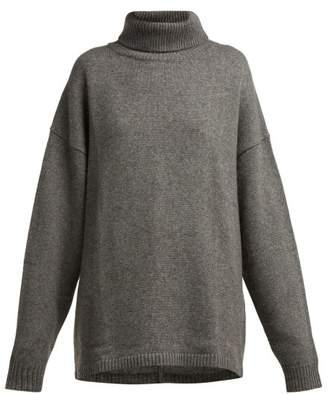 Tibi Roll Neck Cashmere Sweater - Womens - Dark Grey