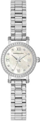 BCBGMAXAZRIA Ladies SilverTone Bracelet Watch with Light Mop Dial, 24mm