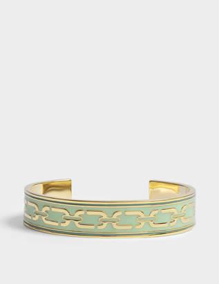 Marc Jacobs Double J Enamel Printed Chain Cuff Bracelet in Mint Enamel