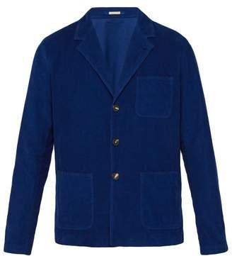 Massimo Alba Single Breasted Corduroy Work Jacket - Mens - Navy