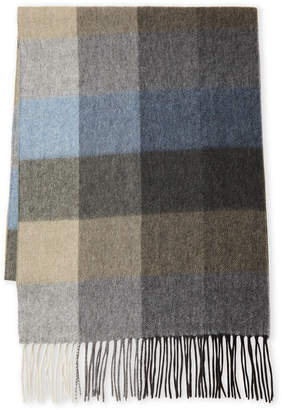 Qi Plaid Fringe Scarf