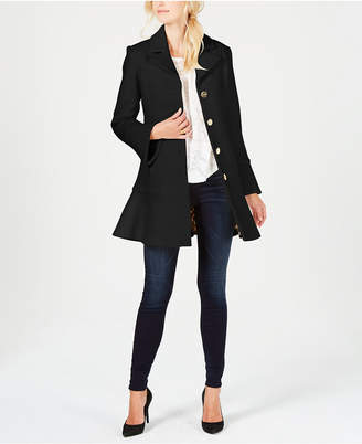 Laundry by Shelli Segal Skirted Single-Breasted Coat