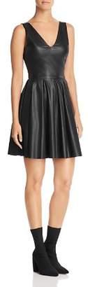 Aqua Faux Leather Pleated Dress - 100% Exclusive