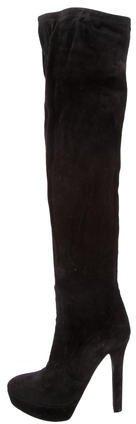 Miu MiuMiu Miu Suede Platform Knee-High Boots