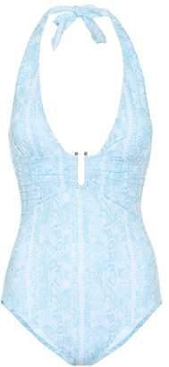 Heidi Klein Lake Manyara snake-print swimsuit
