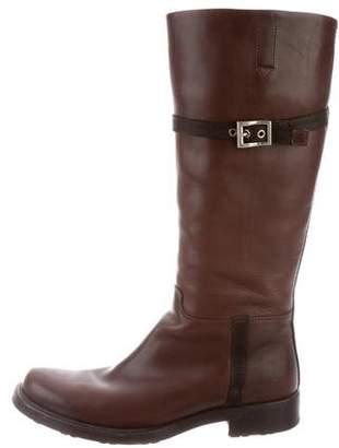 Prada Sport Leather Knee-High Riding Boots