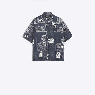 Balenciaga Spiral abstract pattern cotton shirt