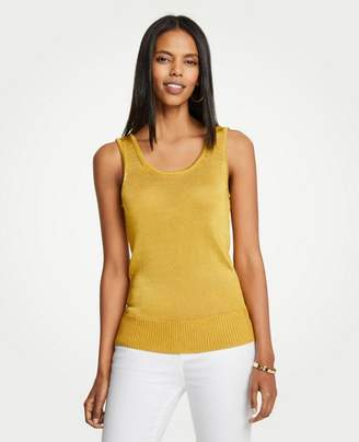 Ann Taylor Shine Scoop Neck Tank