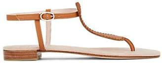 Repetto WOMEN'S JOCASTE SABLE LEATHER T-STRAP SANDALS - BEIGE/TAN SIZE 10