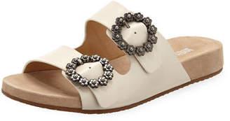 MICHAEL Michael Kors Ryder Leather Slide Sandals