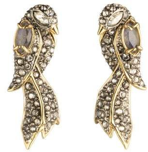 Alexis Bittar Crystal Encrusted Lovebirds Post Earring