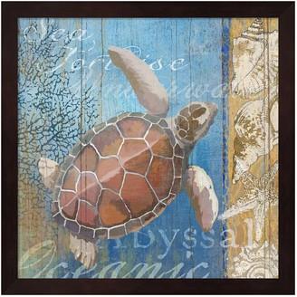 Metaverse Art Turtle & Sea Framed Wall Art