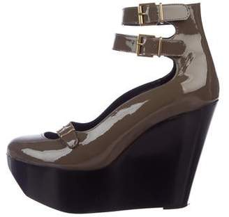 Clergerie Patent Leather Wedge Pumps