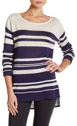 TORI RICHARD At Last Striped Lightweight Linen Sweater