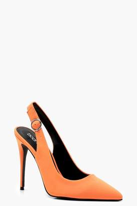 boohoo Sling Back Pointed Court Shoes