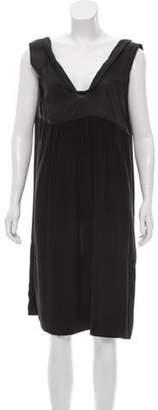 Marni Sleeveless Midi Dress Black Sleeveless Midi Dress