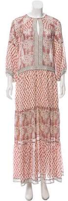 Ulla Johnson Paisley Print Silk Maxi Dress