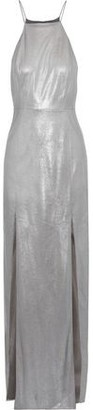 Halston Metallic Faux Leather Gown