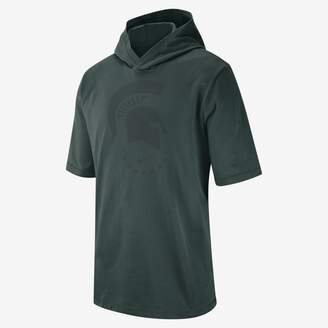 Nike Collection (Michigan State) Men's Hooded Short-Sleeve Top