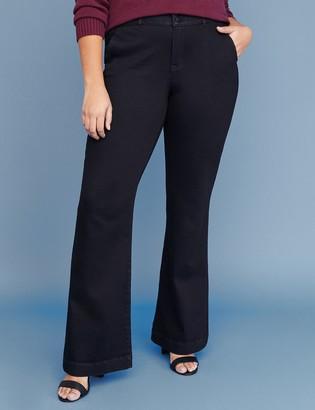 Lane Bryant Tighter Tummy Essential Stretch Trouser Jean - Black