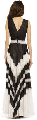 Alice + Olivia TESS PLEATED MAXI DRESS