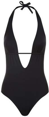 Elizabeth Hurley Piper Deep-Plunge Swimsuit