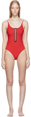 Burberry Red Zeta One-Piece Swimsuit