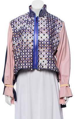 Martina Spetlova Leather Weaved Jacket w/ Tags