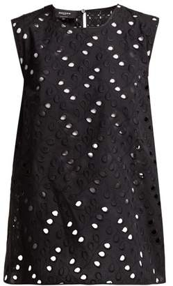 Rochas Aline Bow Embellished Sangallo Lace Top - Womens - Black
