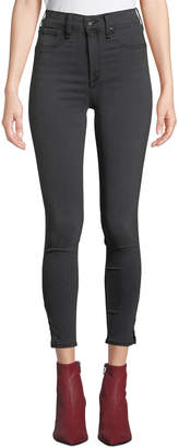 Rag & Bone High-Rise Ankle Skinny Jeans with Slit Hem