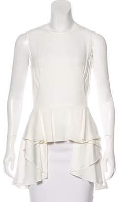 Alexander McQueen Sleeveless Peplum Top