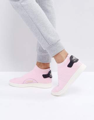 adidas Pink Stan Smith Primeknit Sock Sneakers