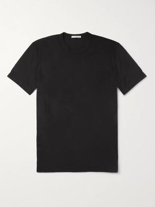 James Perse Combed Cotton-Jersey T-Shirt - Men - Black