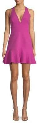 BCBGMAXAZRIA V-Neck Fit-&-Flare Dress
