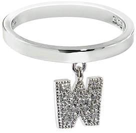 Silvertone 'W' Charm Ring
