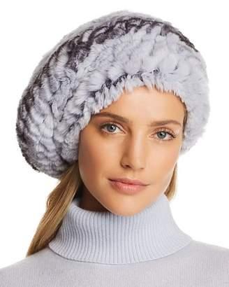 Maximilian Furs Knit Rex Rabbit Fur Beret - 100% Exclusive