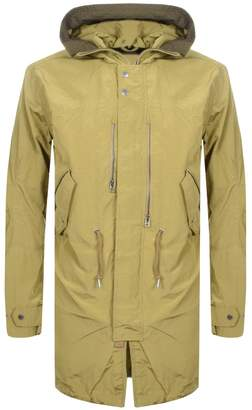Pretty Green Cambrai Snorkel Parka Jacket Khaki