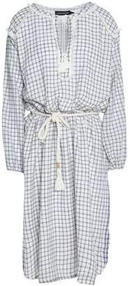 Antik Batik Hailey Fringe-Trimmed Checked Cotton Dress