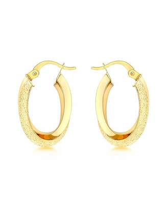 Fashion World 9Ct Gold Double Oval Earring