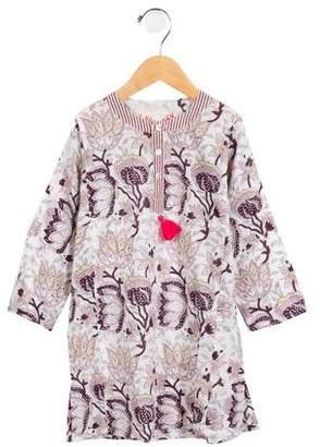 Banjanan Girls' Floral Print Long Sleeve Tunic w/ Tags