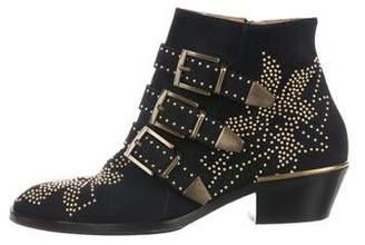 Chloé Suede Susanna Ankle Boots