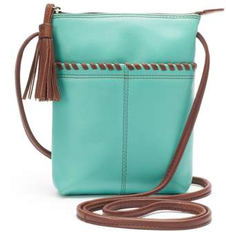Ili ili Leather Two-Tone Mini Crossbody Bag