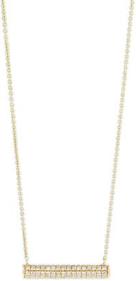 Sydney Evan Pave Diamond Bar Roll Necklace