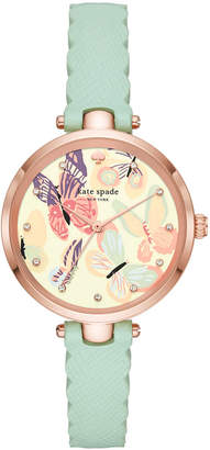 Kate Spade Women Holland Mint Leather Strap Watch 34mm